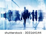 silhouette business people... | Shutterstock . vector #303164144