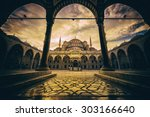 vintage style of sultan ahmed... | Shutterstock . vector #303166640