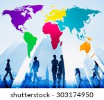 world global cartography... | Shutterstock . vector #303174950