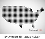 abstract map of usa. colorful... | Shutterstock .eps vector #303176684