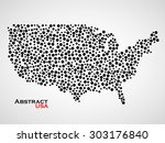 abstract map of usa. colorful... | Shutterstock .eps vector #303176840