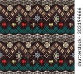 tribal art boho seamless...   Shutterstock .eps vector #303194666