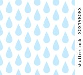 the pattern of blue drops of... | Shutterstock .eps vector #303198083