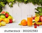 various freshly vegetable... | Shutterstock . vector #303202583