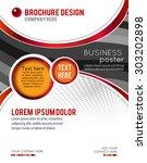 magazine or brochure  vector... | Shutterstock .eps vector #303202898