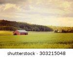 An Old Barn In A Green Field...