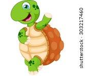 cartoon turtle waving hand ...   Shutterstock .eps vector #303217460
