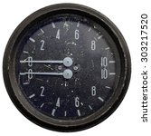 Small photo of Air pressure instrument on white background
