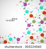 molecule background colorful... | Shutterstock .eps vector #303224060