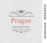 prague.vintage frame. | Shutterstock .eps vector #303226313