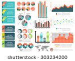 collection of infographic set... | Shutterstock .eps vector #303234200