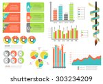 collection of infographic set... | Shutterstock .eps vector #303234209