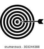 black target icon on a white