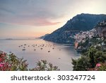 Sunset In Positano And The...