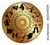 Vector Illustration Of Zodiac...