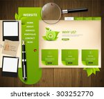 eco website design template | Shutterstock .eps vector #303252770
