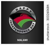 happy malawi independence day... | Shutterstock .eps vector #303260684