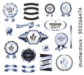 luxury golden premium quality... | Shutterstock . vector #303266474