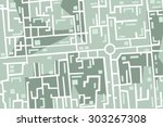 editable map of the city with... | Shutterstock .eps vector #303267308