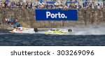 Small photo of PORTO - GAIA, PORTUGAL - AUGUST 2, 2015: Philippe Chiappe (FRA) and Christophe Larigot (FRA) during the U.I.M. F1H2O World Championship in Porto & Gaia, Portugal.
