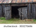 Abandoned Barn In A Village...