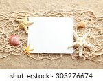 Empty Blank Of Sheet Paper On...