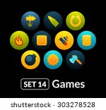 flat icons vector set 14   game ...
