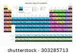 mendeleev's periodic table of... | Shutterstock .eps vector #303285713