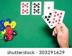 man playing poker | Shutterstock . vector #303291629