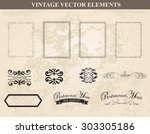 decorative vintage frames and... | Shutterstock .eps vector #303305186