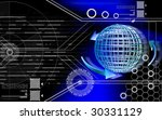 digital illustration of globe... | Shutterstock . vector #30331129