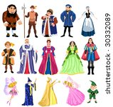 fairy tales characters | Shutterstock .eps vector #30332089