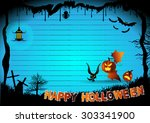 halloween border for design ... | Shutterstock .eps vector #303341900