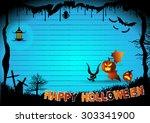 halloween border for design ... | Shutterstock .eps vector #303341900