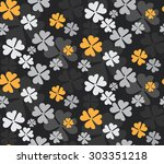 elegant black and yellow color... | Shutterstock .eps vector #303351218