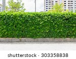 decorative garden on a brick... | Shutterstock . vector #303358838