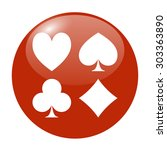 vector playing card suit icon... | Shutterstock .eps vector #303363890