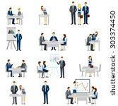 business coaching icons set... | Shutterstock .eps vector #303374450