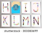 hand drawn alphabet funny style.... | Shutterstock . vector #303383699