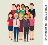 people digital design  vector... | Shutterstock .eps vector #303384836