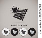 solar panel vector icon | Shutterstock .eps vector #303386084