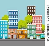 city urban design  vector... | Shutterstock .eps vector #303386624