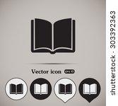 vector icon book | Shutterstock .eps vector #303392363