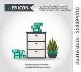 illustration of office... | Shutterstock .eps vector #303394310