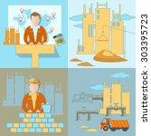 construction business... | Shutterstock .eps vector #303395723