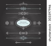 frame and dividers set on...   Shutterstock .eps vector #303397946