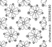 floral seamless pattern in the... | Shutterstock . vector #303398180
