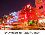 miami beach  florida usa april... | Shutterstock . vector #303404504