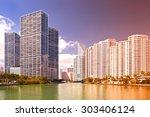 miami florida usa  famous...   Shutterstock . vector #303406124