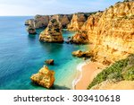 a view of a shore near portimao ... | Shutterstock . vector #303410618